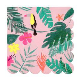 Serviettes thème tropicale