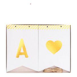 Guirlande lettres or