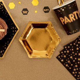 Assiette or en carton - petite