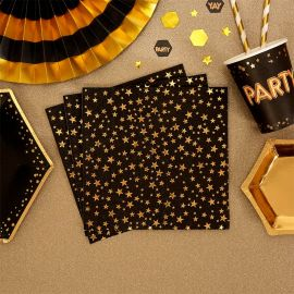 Serviettes étoiles en papier