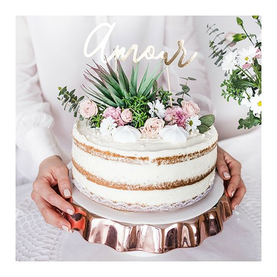 Cake topper Amour