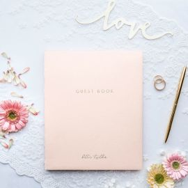 Livre d'or rose pastel