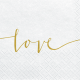 Serviettes Love