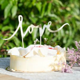 Cake topper Love rose gold