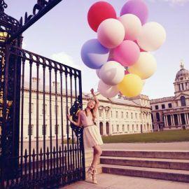 Ballon géant pastel
