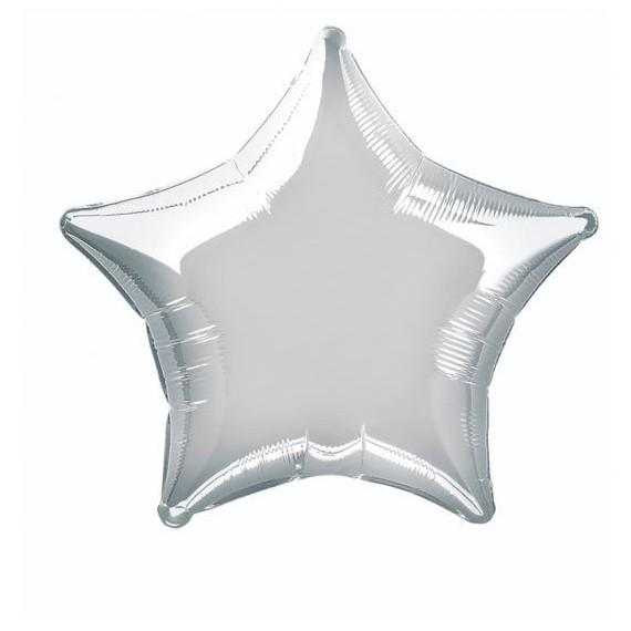 Ballon mylar étoile - argent