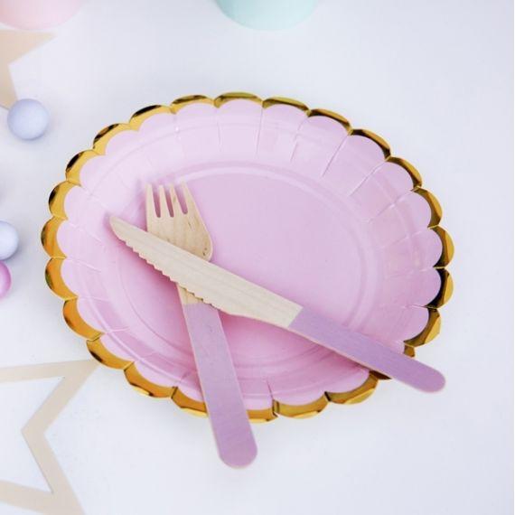 Assiettes jetables - rose pâle (par 6)