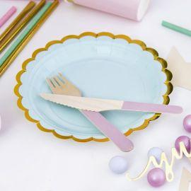 Assiettes jetables - vert menthe (par 6)
