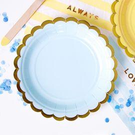 Assiettes jetables - bleu clair (par 6)