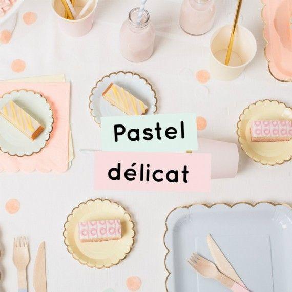 Décoration pastel délicat