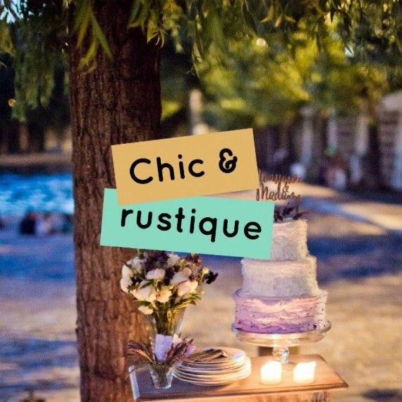 Décoration mariage rustique chic