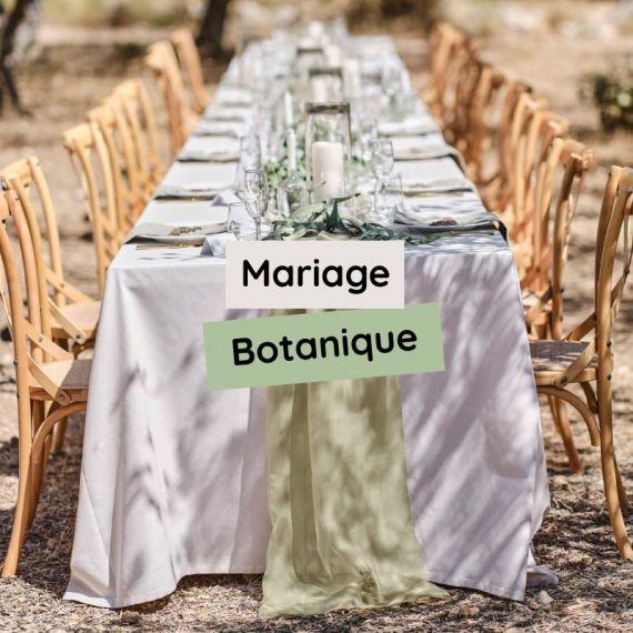 Mariage botanique chic