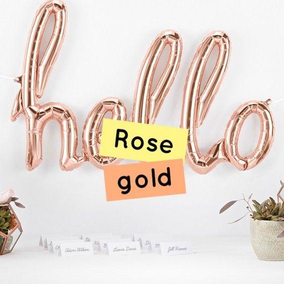 Décoration de fête rose gold