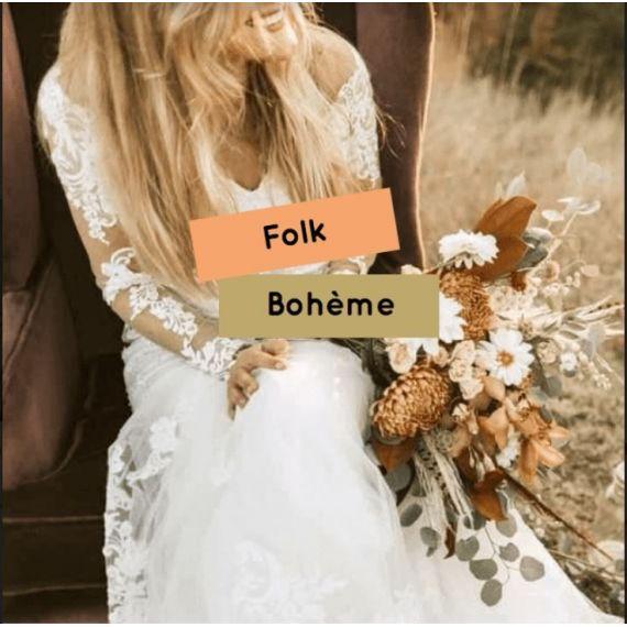 Décoration mariage folk bohème